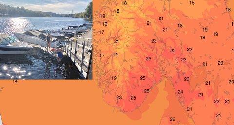 VARMT: Lørdag kan Telemarkingene kjenne på sommeren igjen. Foto: Ove Mellingen/Meteorologisk institutt