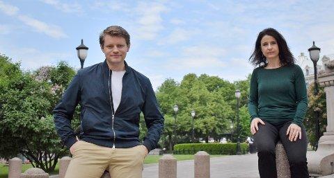 RIVALER: Peter Frølich (H) og Jenny Klinge (Sp) i justiskomiteen står for en gangs skyld på samme side i en betent sak.
