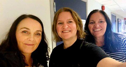 Elfrid M Loe, Ann-Helen Strand og Hege Stemland fra hjemmetjenestens testteam.