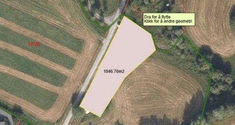 Jordbruk: Det er snakk om 1,8 mål, men saka er av prinsipiell betydning.