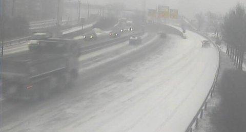Webkamera bilde fra E 18 Hjortnes, retning øst.