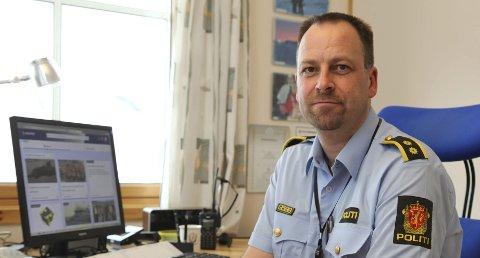 Politioverbetjent ved Fauske lensmannskontor Ronny Borge.