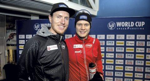 Jeremy Wotherspoon (t.v.) fortsetter som trener for Håvard Lorentzen og resten av det norske sprintlandslaget. (Foto: NTB scanpix)
