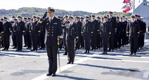 Mandag formiddag ble Arild Skoge innsatt som ny fregattsjef ved KNM «Thor Heyerdahl».