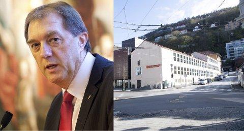 Gunnar Bakke og Frp la frem en egen rapport om Bybanen i tunnel ut av sentrum i 2014 med innslag ved siden av Katedralskolen. Det fikk konsekvenser.