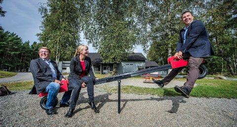 På vippen: Eivind Borge og Frp teller på knappene. Hvis Frp skifter side, blir  Mona Vauger  alene og det blir flertall for løsningen til Kim- Erik Ballovarre  med å samle tre skoler.