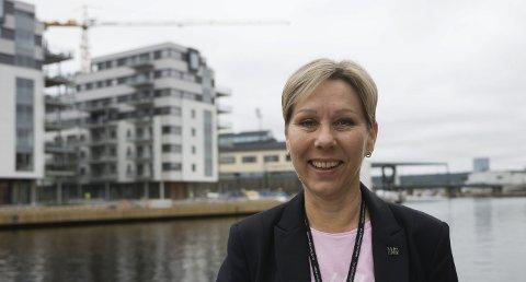 Industrikvinne: Reija Santala har bred bakgrunn fra tungindustrien. Hun tror på en lys, grønn industrifremtid i Fredrikstad.