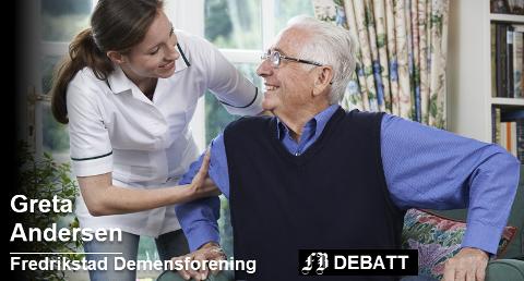–  Vi vet at personer med en demenssykdom reagerer positivt på ulike stimuli – da må de få det – akkurat som hjertepasienter får sin hjertemedisin, skriver Greta Andersen.