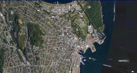HORTEN HAVN: Mandag 6. januar er det MS Nestor som har fortøyd ved dypvannskaia i Horten. (Skjermdump: Marine Traffic)