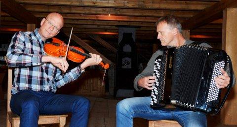 Det er første gongen Leif Inge Schjølberg og Dag Gården held konsert i lag.