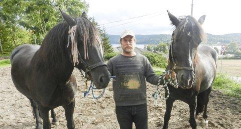 HÅNDPLUKKET: Sven Håkon Johansen sammen med Herborg (tv) og Fosselill. De er også med på Farmen. Alle foto: Hanne Eriksen