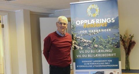 Nok å gjøre: Terje Rognsvåg, daglig leder ved Opplæringskontoret i Hardanger, sier de aldri har hatt flere lærlinger tilknyttet kontoret enn nå. Arkivfoto: Inga Øygard Jaastad