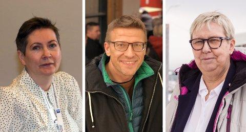 ORDFØRERE: Sør-Varangers ordfører Lena Norum Bergeng, Vardø-ordfører Ørjan Jensen og Vadsø-ordfører Wenche Pedersen.