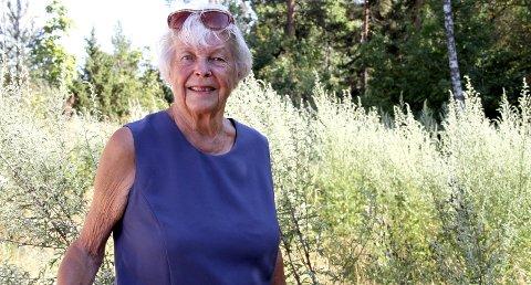 GIR SEG IKKE: Audhild Freberg (80) er redd for å miste drikkevannet her ved sin fritidsbolig på Helland. FOTO: LARS IVAR HORDNES