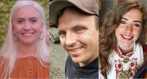 UTFLYTTERE: Fra venstre: Ane-Marlene Skriudalen, Martin Heiberg og Silje Marie Lian Skreprud har alle valgt å flytte fra bygda.