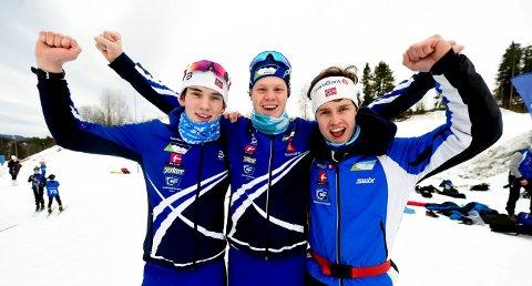 AVLYST: Skrimtrioen Magnus M. Næsset (t.v.), Albert Berget og Anders Jørstad hadde sett fram til junior-NM på Beitostølen.
