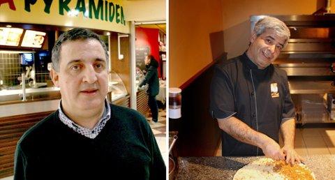 MER PIZZA TIL FOLKET: Brahim Kadi og Hossein Eshghizadeh skal nå samarbeide om et nytt pizza-sted i Tromsø.