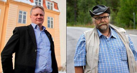 MØTER – MØTER IKKE: Sp har ulikt syn på hvorvidt de skal møte i fellesnemnda. I Troms sier de ja, men i Finnmark sier de nei. Til venstre: Ivar B. Prestbakmo, fylkesråd for Sp i Troms. Til høyre: Kurt Wikan, partiets gruppeleder i Finnmark.