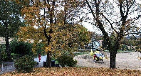 LUFTAMBULANSE: Det ble gitt førstehjelp og luftambulanse ble tilkalt, men livet til Oscar (15) kunne ikke reddes etter volden faren utøvde på sønnen.
