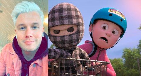 HEFTIG: Herman Flesvig fikk testet vokabularet som både Rutete Ninja, Asgeir og alle de andre karakterene i filmen.