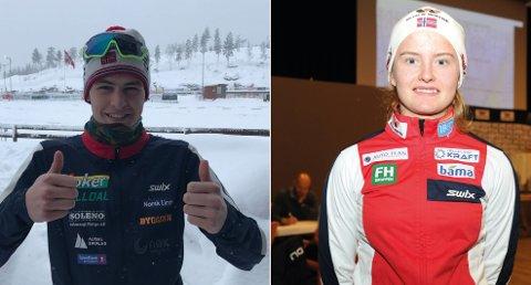 Emil Hage Streitlien og Gyda Westvold Hansen er klare for ungdoms-OL i 2020.