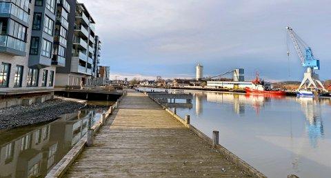 Her planlegges de nye båtplassene.