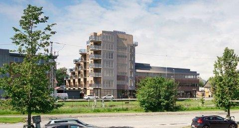 Fem etasjer: Utbygger må bygge i fem etasjer, ikke i sju slik modellen viser.