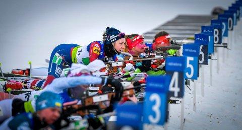 OPPTUR: Emilie Ågheim Kalkenberg gikk sprint i verdenscupen i Hochfilzen i Østerrike torsdag. Det ble en opptur for skonsengløperen.