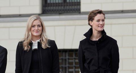 FRA HEDMARK: justisminister Emilie Enger Mehl (Sp) OG kultur- og likestillingsminister Anette Trettebergstuen (Ap).