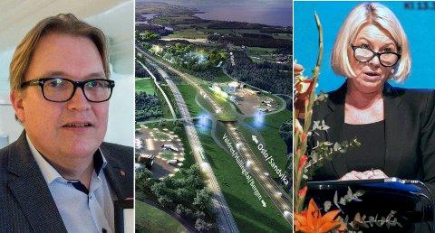 FIKK NYTT SVAR: Sverre Myrli stilte nytt spørsmål om Ringeriksbanen og E16, og fikk et nytt svar fra Monica Mæland.