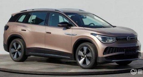 BILDELEKKASJE: Dette skal være produksjonsmodellen av elbilen VW ID.6. Det er en stor SUV med 4x4 og rekkevidde på 450 kilometer.