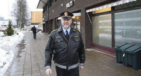 FERDIG ETTER 14 ÅR: Morten Huse har vært lensmann i Ullensaker siden 2004. – En interessant og spennede jobb, sier Huse.