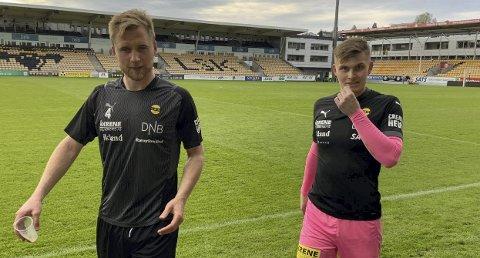 Stoler på den andre: Espen Garnås (t.v.) og Mads Christiansen smilte for LSK-seier, akkurat som ved en rekke anledninger i fjor høst. Foto: Per Morten Sødal