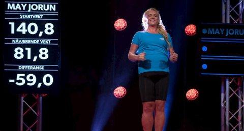 May Jorun Bjølgerud fra Sande var blant de flinkeste slankerne i «The Biggest Loser» på TVNorge i 2015.