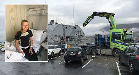 ULYKKE: Lise Marie Ellefsen ble fredag utsatt for en arbeidsulykke, men etter noen dager på sykehuset er smilet tilbake hos sandefjordsjenta.
