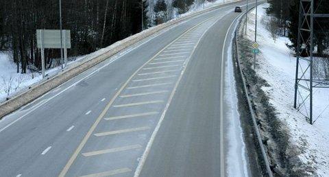 Det var på E18 strekningen sør for Tangen i Sannidal i Kragerø at UP tirsdag holdt fartskontroll. Hele 37 bilister brøt fartsgrensen. Bilet er tatt ved en tidligere anleding.