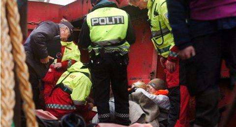 """Tirsdag vil det være store mengder av mannskap, skadde personer og utrykningskjøretøy i Grenland, i forbindelse med beredskapsøvelsen Omega. Dette bildet er hentet fra den forrige store øvelsen i Grenland. Øvelsen """"Tyr"""" ble avholdt i 2009."""