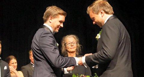 Christian Tynning Bjørnø og Magnus Fon Klyve ga hverandre sitt ja i helgen. Foto: Privat