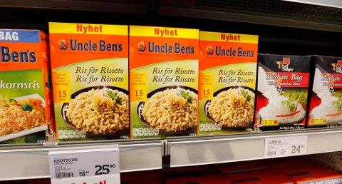 FORSVINNER UT. Uncle Bens-produkter. Foto: Lise Åserud (NTB scanpix)