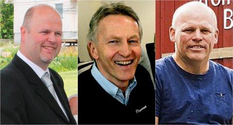 NYE FJES PÅ TOPPLISTEN: Eirik Sannes Østerli, Egil Funnemark og Knut Bråthen er blant de nye ansiktene over de nye på inntektstoppen for Telemark.