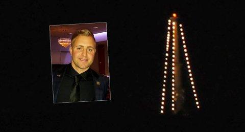 INITIATIVTAKER: Thomas Frantzen håper at innsamlingen han har startet kan bidra til julelys på Vealøs.