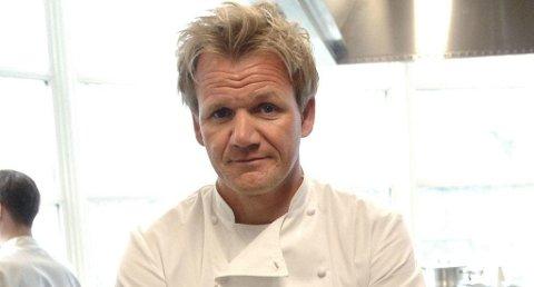 SKEPTISK: Gordon Ramsay er svært skeptisk til retten «dagens suppe».