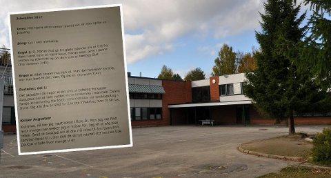REAKSJONER: Flere har reagert på at det brukes vers fra Koranen under årets julespill på Stigeråsen skole i Skien.