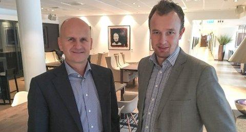 Fylkesordførerne Rune Hogsnes (t.v.) og Sven Tore Løkslid