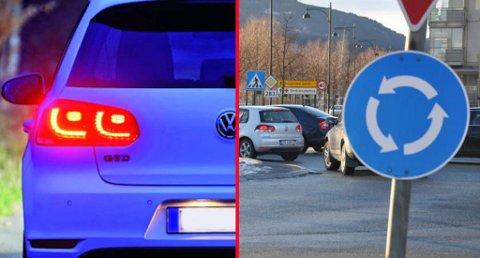 Vi bruker ikke lang tid på å legge til oss noen uvaner bak rattet. Trafikklærer Dag Kristian Moen Hæhre forteller at det å bremse tidlig og bruke blinklys i forbindelse med blant annet rundkjøringer, er noe av det vi sliter med. Illustrasjonsfoto