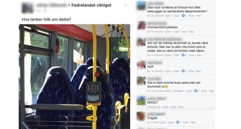 BUSSETER IKKE BURKA: Innlegget til den innvandringskritiske gruppen har gått viral etter en noe grov misforståelse. Foto: Skjermdump Facebook