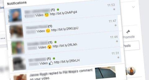 Mange Facebook-brukere mottar nå meldinger fra venner som er et virus. Foto: Nettavisen