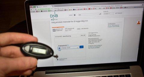 Illustrasjonsfoto: Kodebrikke for innlogging i DNBs nettbank. BankID Foto: Alexander Winger (Nettavisen)