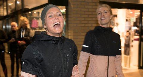 Bekkestua  20171016. Therese Johaug løper sammen med mosjonister i forb. med arrangement av Anton Sport. Foto: Terje Pedersen / NTB scanpix
