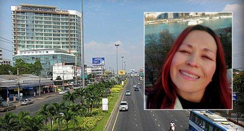 Anita Bergane ber om hjelp til å betale sykehusregningene for faren som ligger alvorlig syk i Thailand. Bygningen på bildet er ett av sykehusene som faren har vært innlagt på. Foto: Privat